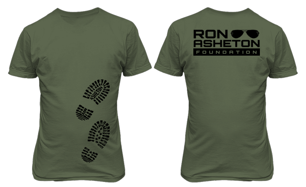 Boot Prints Olive T-Shirt