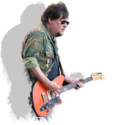 Ron Asheton playing guitar